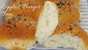 Burger Buns – Eggless Burger Buns – Easy Hamburger Buns – How to make Burger Buns at Home