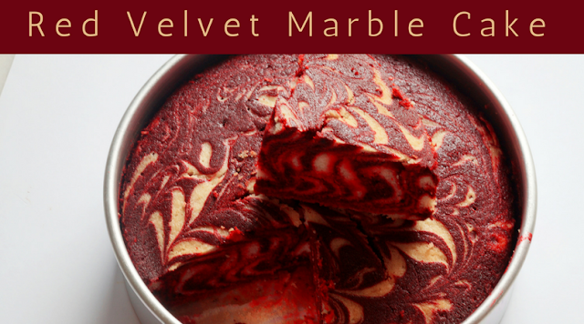 Red Velvet Cake Recipe – Red Velvet Marble Cake (Zebra Cake)