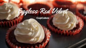 Easy cupcake recipe in Convection Microwave- mini red velvet cupcake