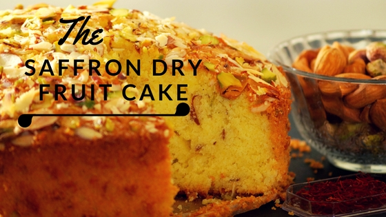 Saffron Dry Fruit Cake Recipe Video – Kesar Pista Badam Cake