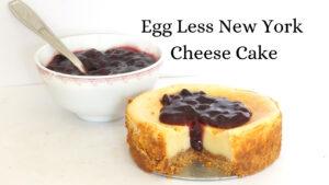 Eggless New York Cheese Cake