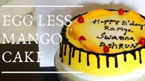 Eggless Mango Cake –  How to decorate Mango cake