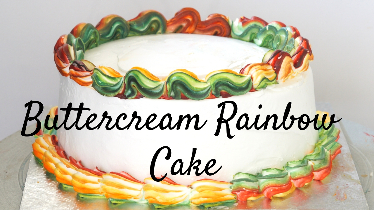Rainbow Cake – Best Rainbow Cake with Rich's Butter Creme