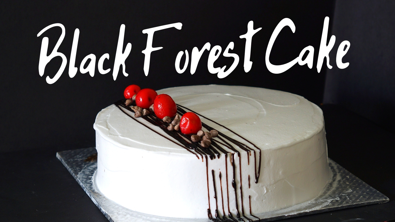 Eggless Black Forest Cake – Simple Homemade Black Forest Cake