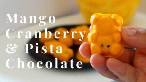 Mango Cranberry and Pistachios Chocolate