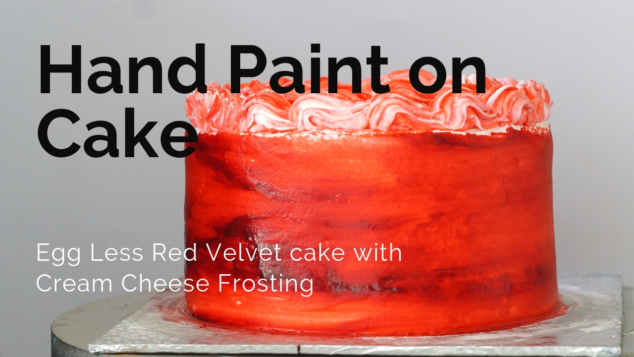 How to Hand Paint on Cake – Free Hand Painting on Whipped Cream
