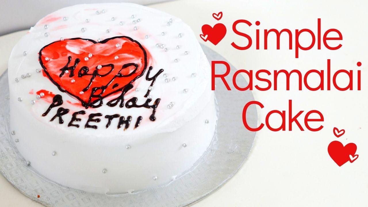 Simple Rasmalai Cake – Eggless Rasmalai Fusion Cake