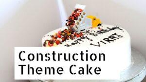 Construction Theme Cake – Whipped Cream Chocolate Cake