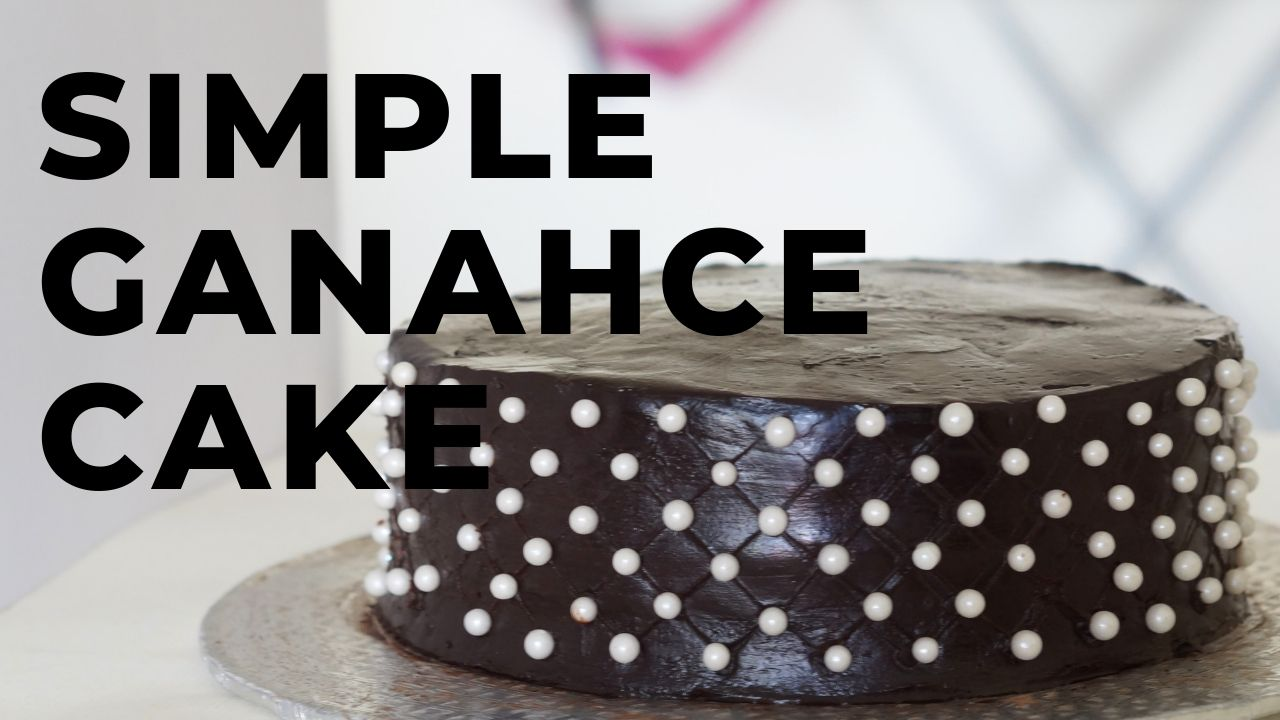 How to Decorate the cake with Chocolate Ganache