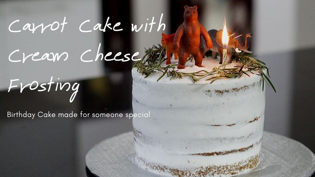 Carrot Cake with Homemade Cream Cheese Frosting
