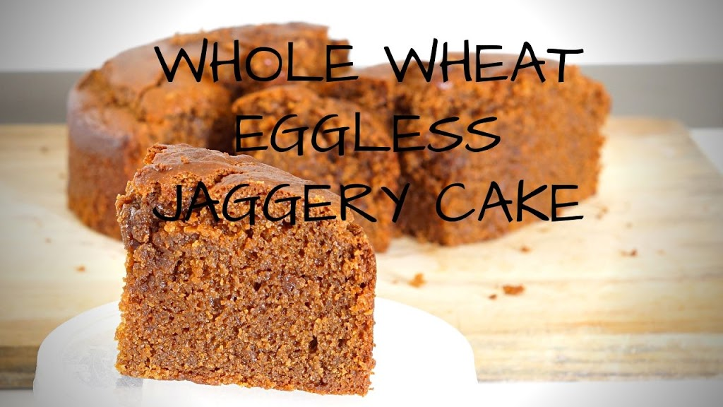 Eggless Whole Wheat Jaggery Cake | Eggless Gud Cake