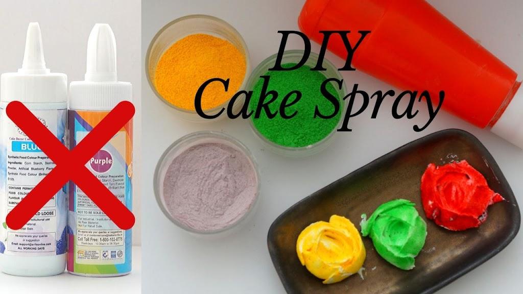 Cake Spray | Powder Cake Spray | Colour Splash | Colour Mist