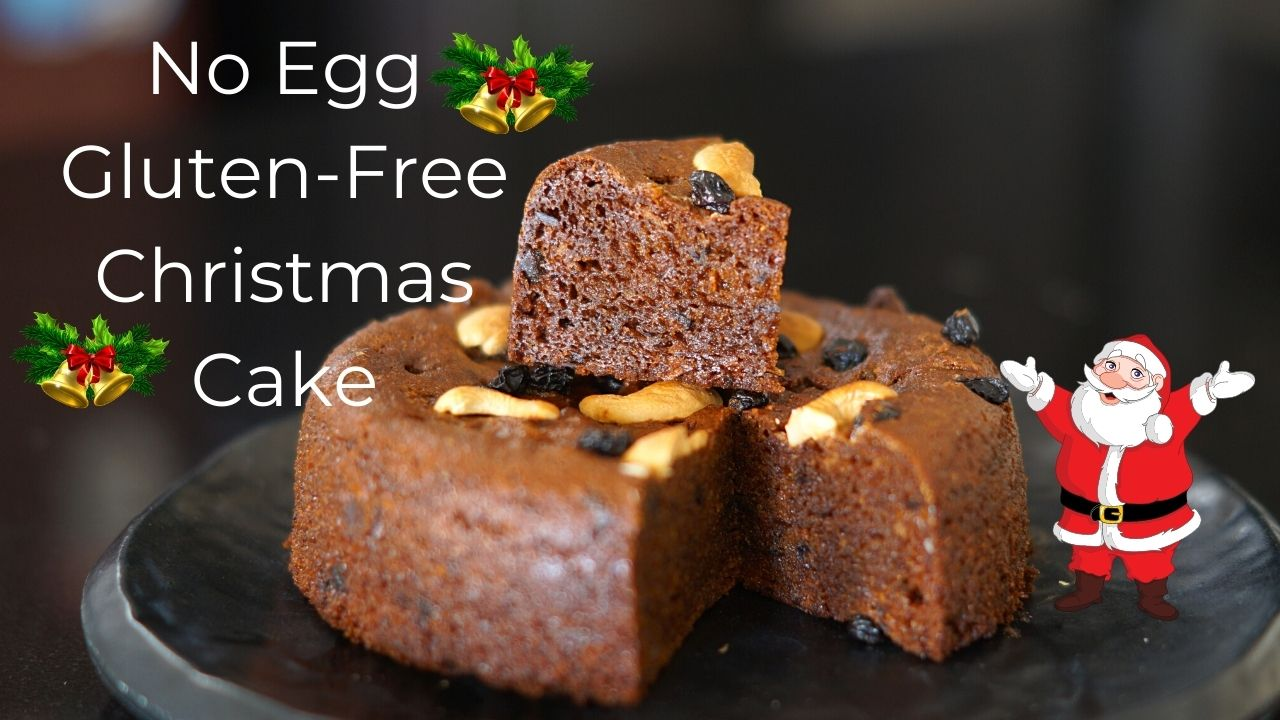 No Egg Gluten Free Christmas Cake