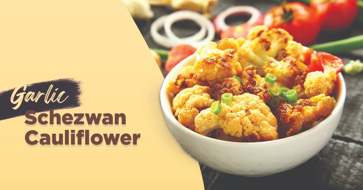 Garlic Schezwan Cauliflower